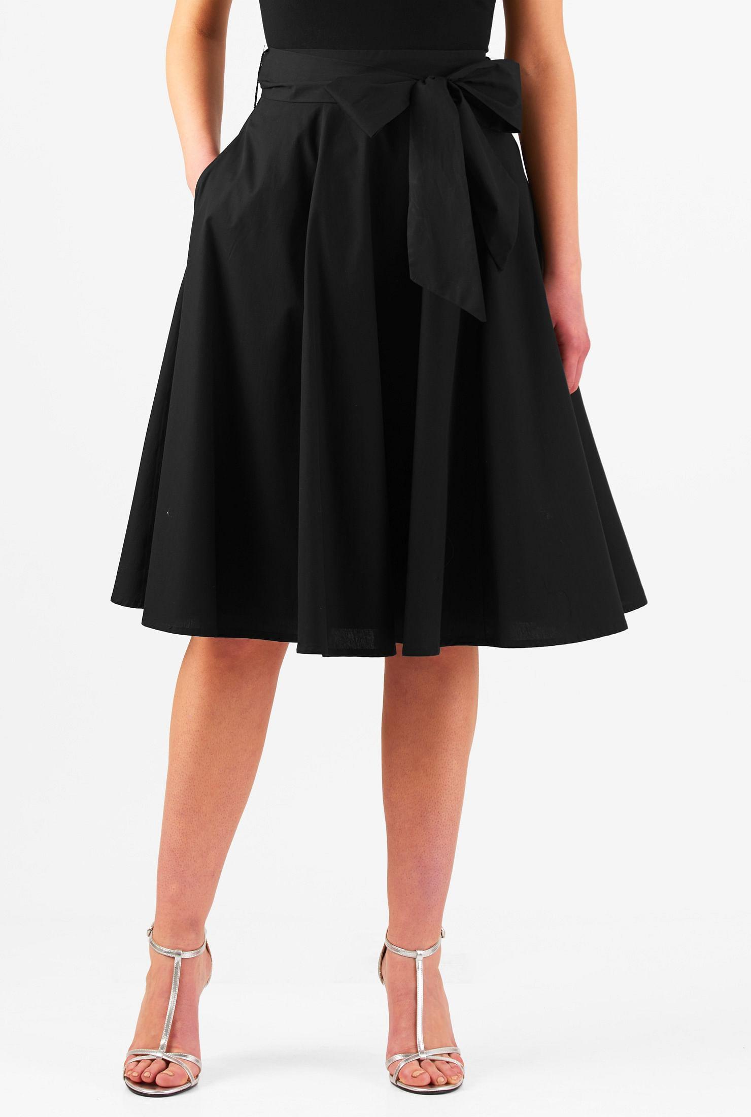 7644298c73 banded waist skirts, below knee length skirts, Black Skirts, cotton skirts,