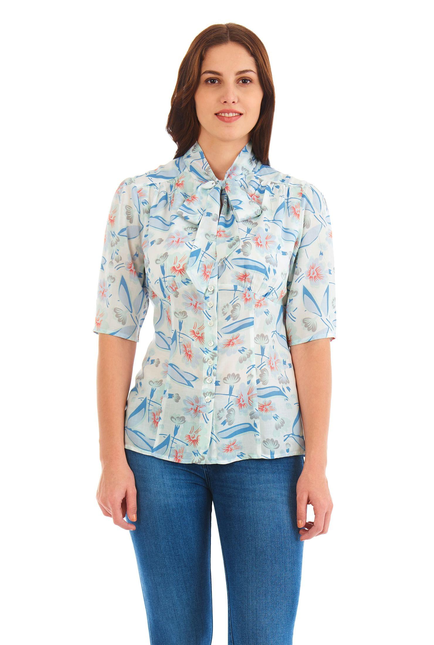 4e2c33d73 Blouses, Dry clean tops, Elbow length sleeve Tops, empire waist blouses,