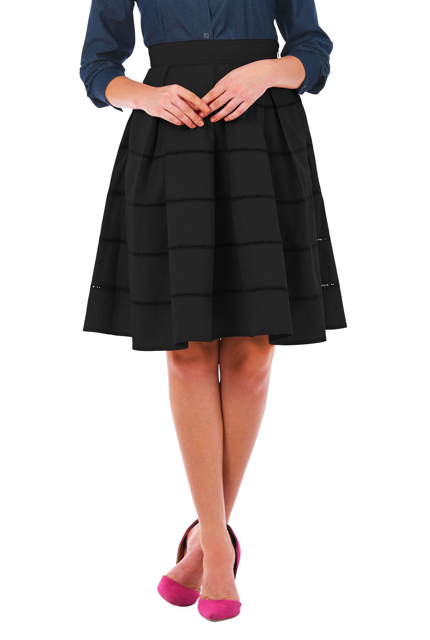 e980217ac8 Above knee length skirts, Black Skirts, Cotton/spandex skirts, day-