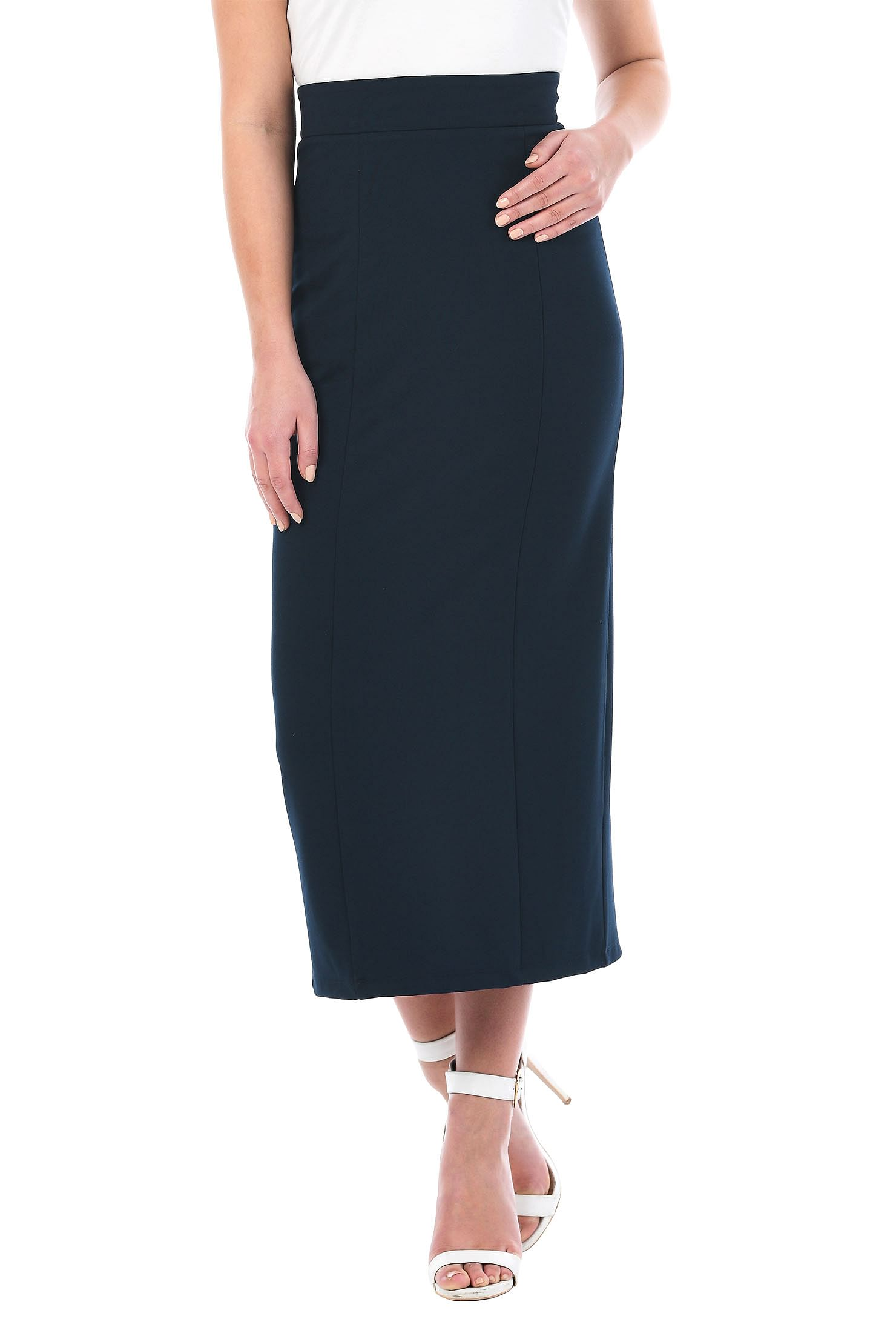a2e3145ae6 above ankle length skirts, Back vent skirts, elastic back waist skirts, high