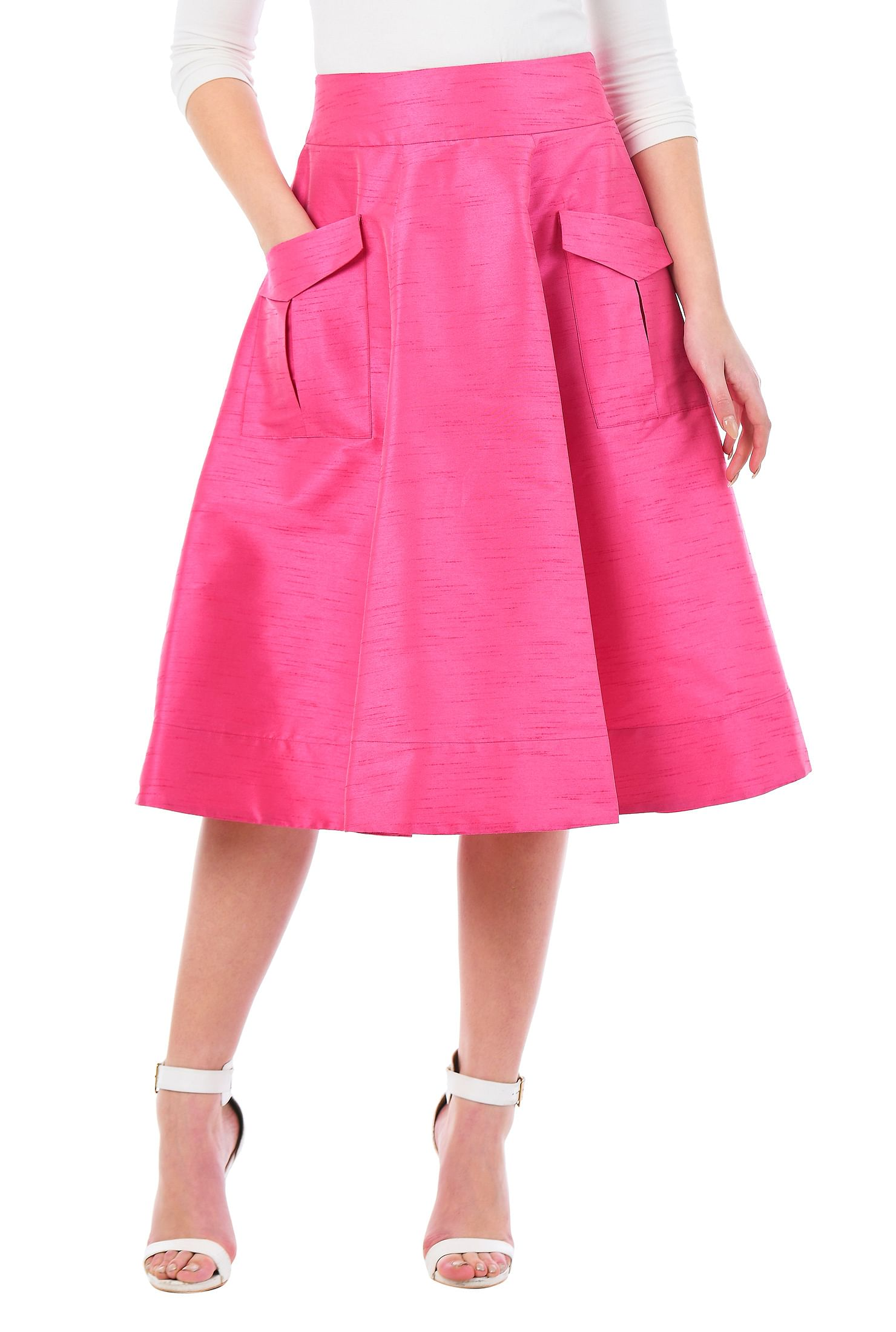 9b613c57d5 Home · Dresses; Cargo pocket dupioni skirt. , banded waist skirts, below  knee length skirts, Dry clean skirts, Feminine Skirts