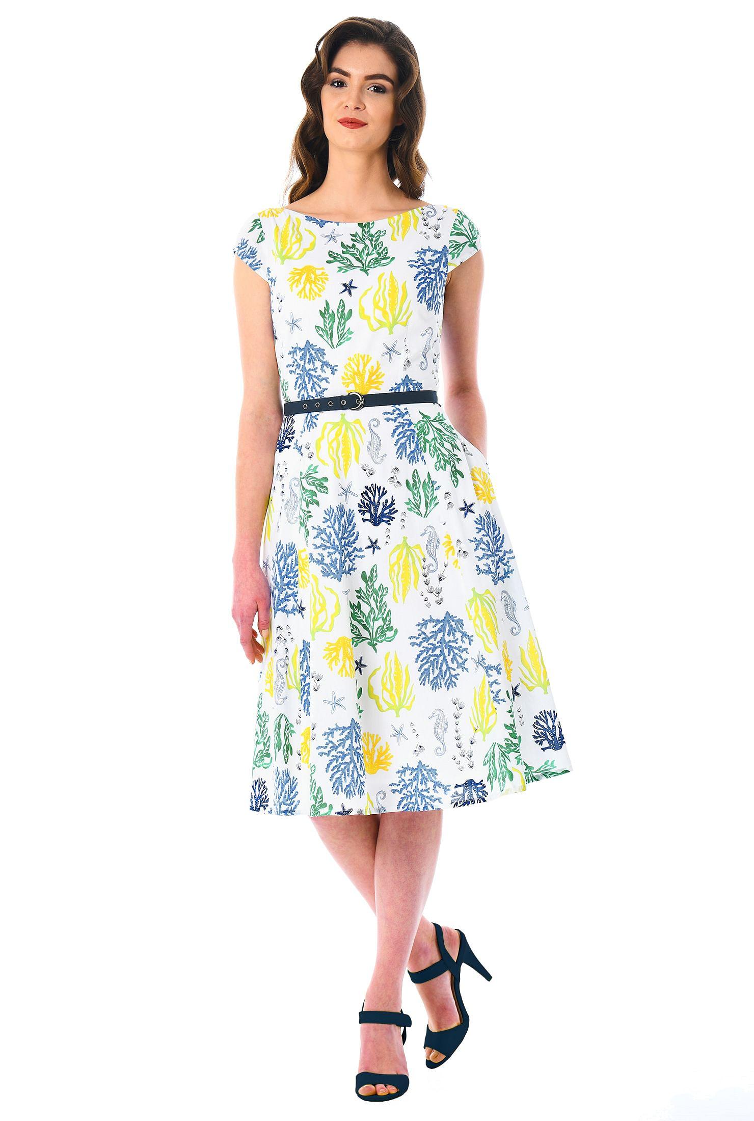cfb07560c22c back zip dresses, below knee length dresses, boat neck dresses, cap sleeve