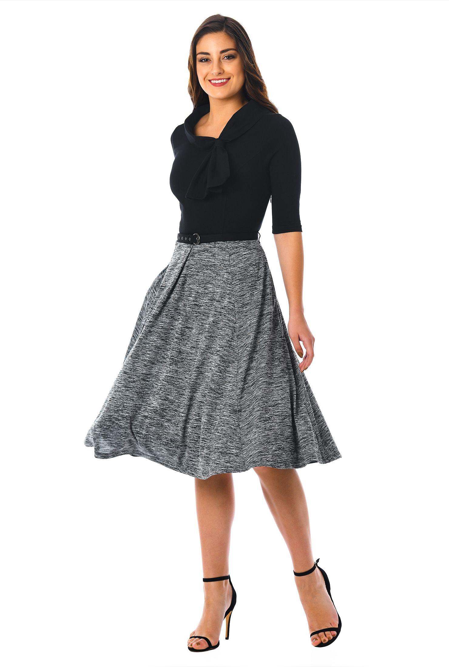 Fitted Dress Below Knee