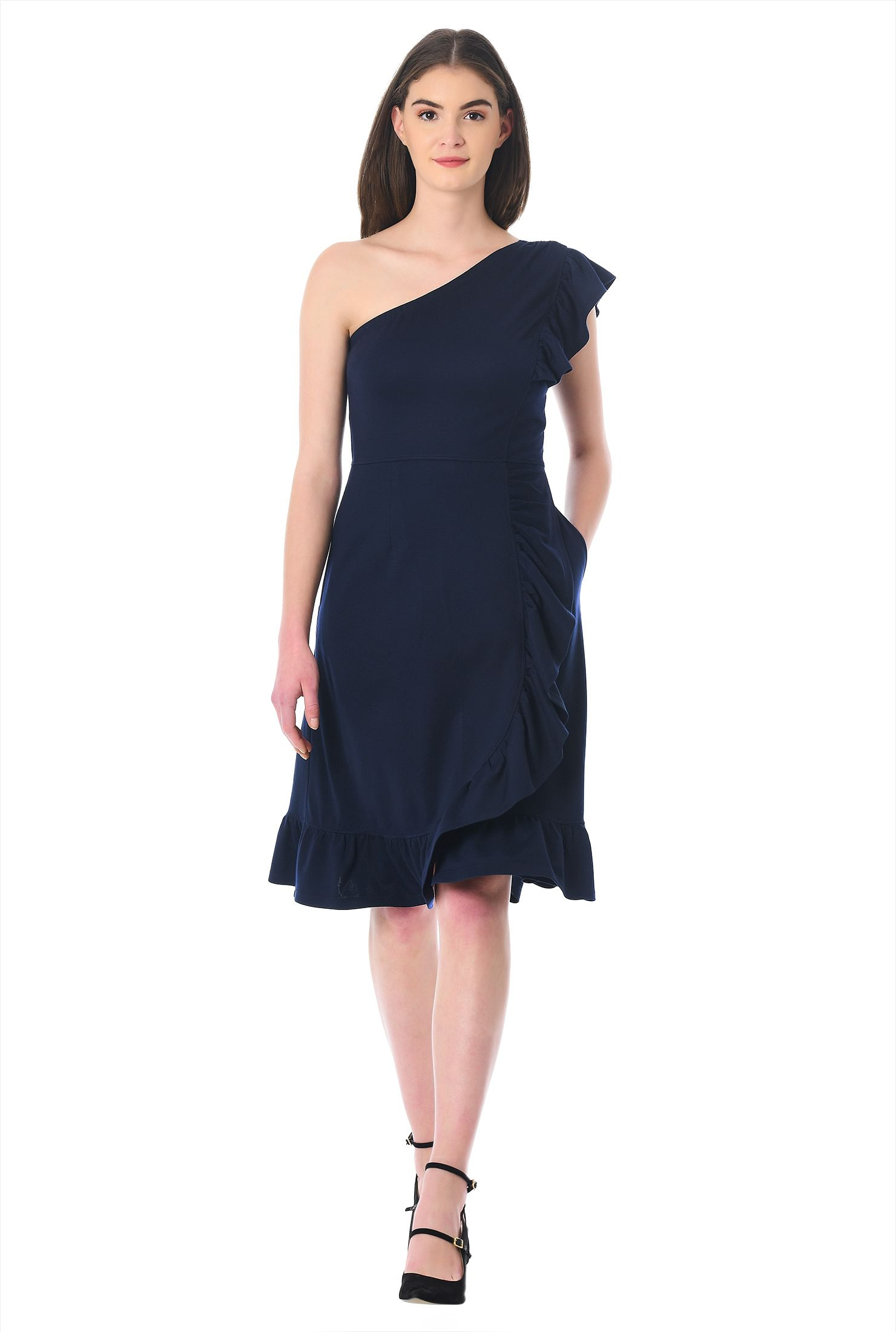 Blue below the Knee Prom Dresses
