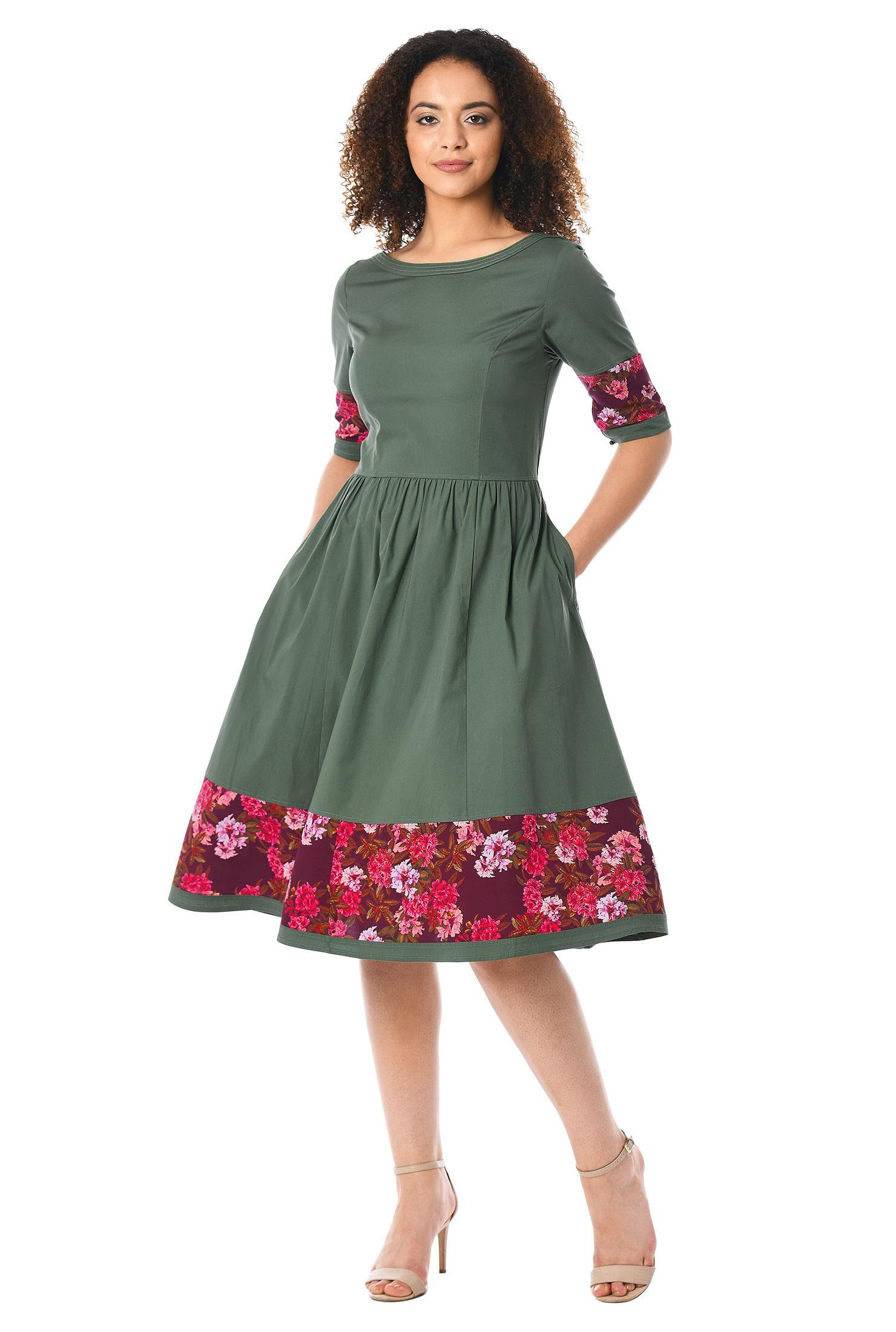 Magenta Knee Length Dresses