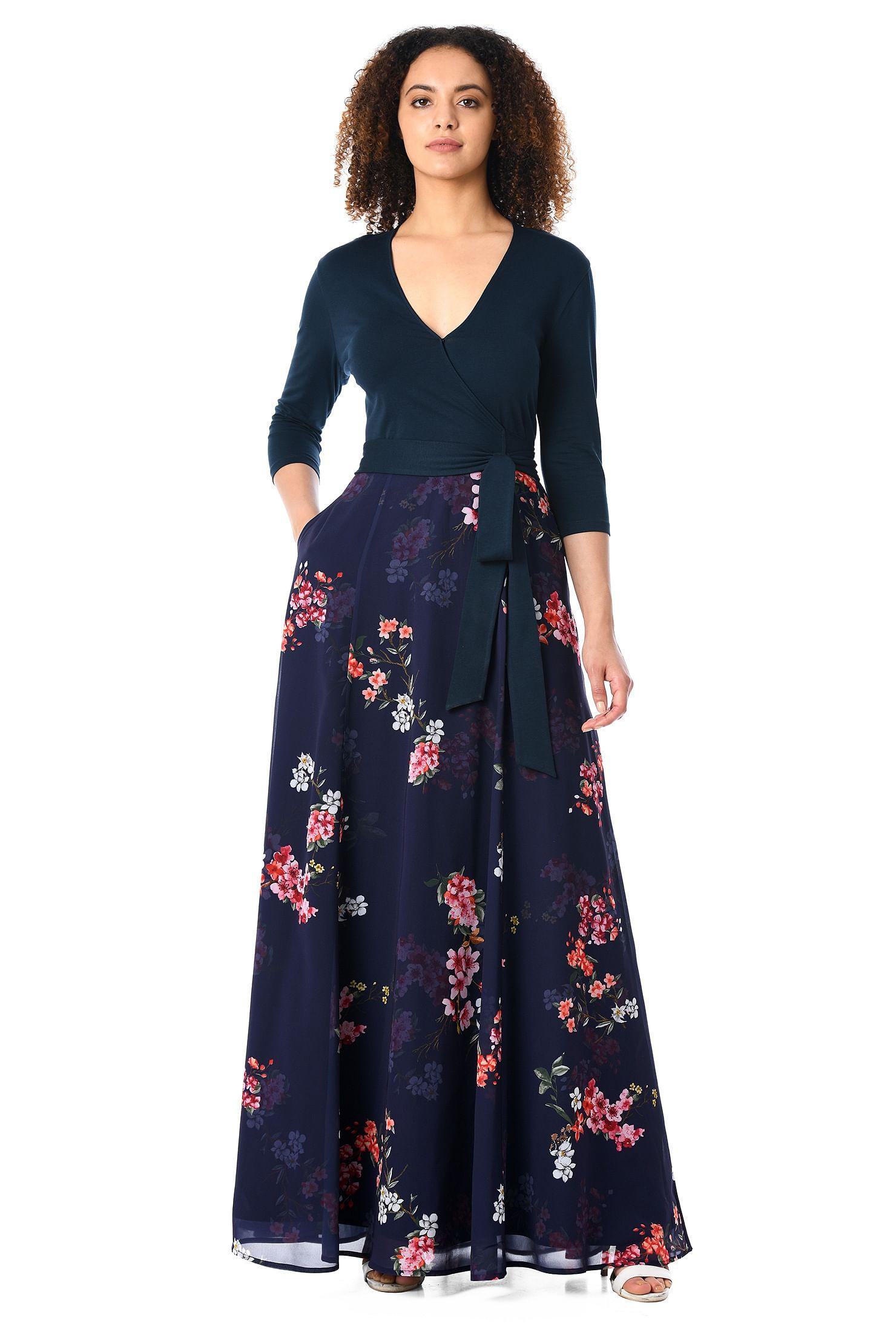 4d3ea7317c7c below the elbow Sleeve Dresses, cotton/spandex Dresses, day dresses, faux