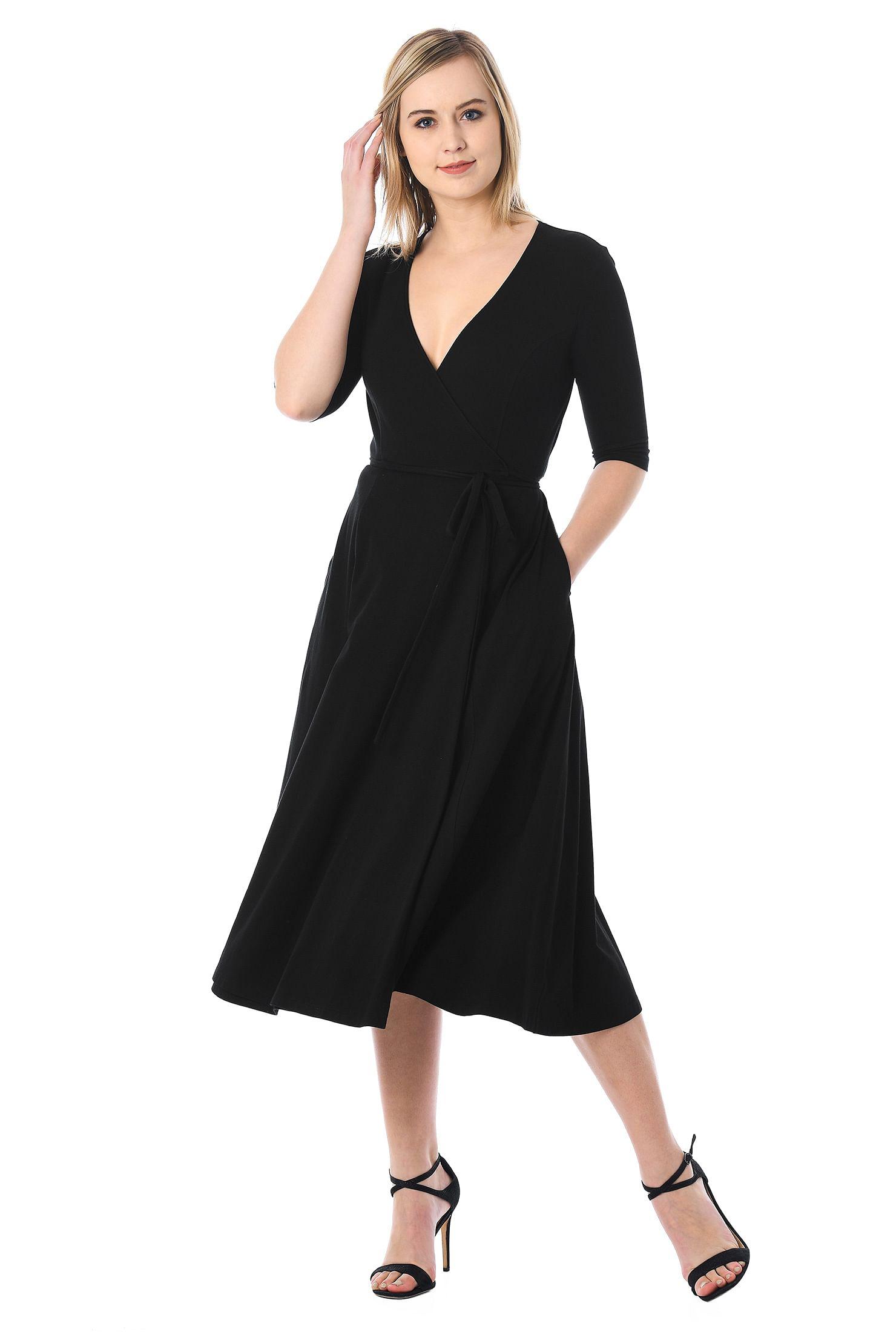 ba5c151b6 black dresses, cotton/spandex Dresses, jersey knit dresses, machine wash  dresses