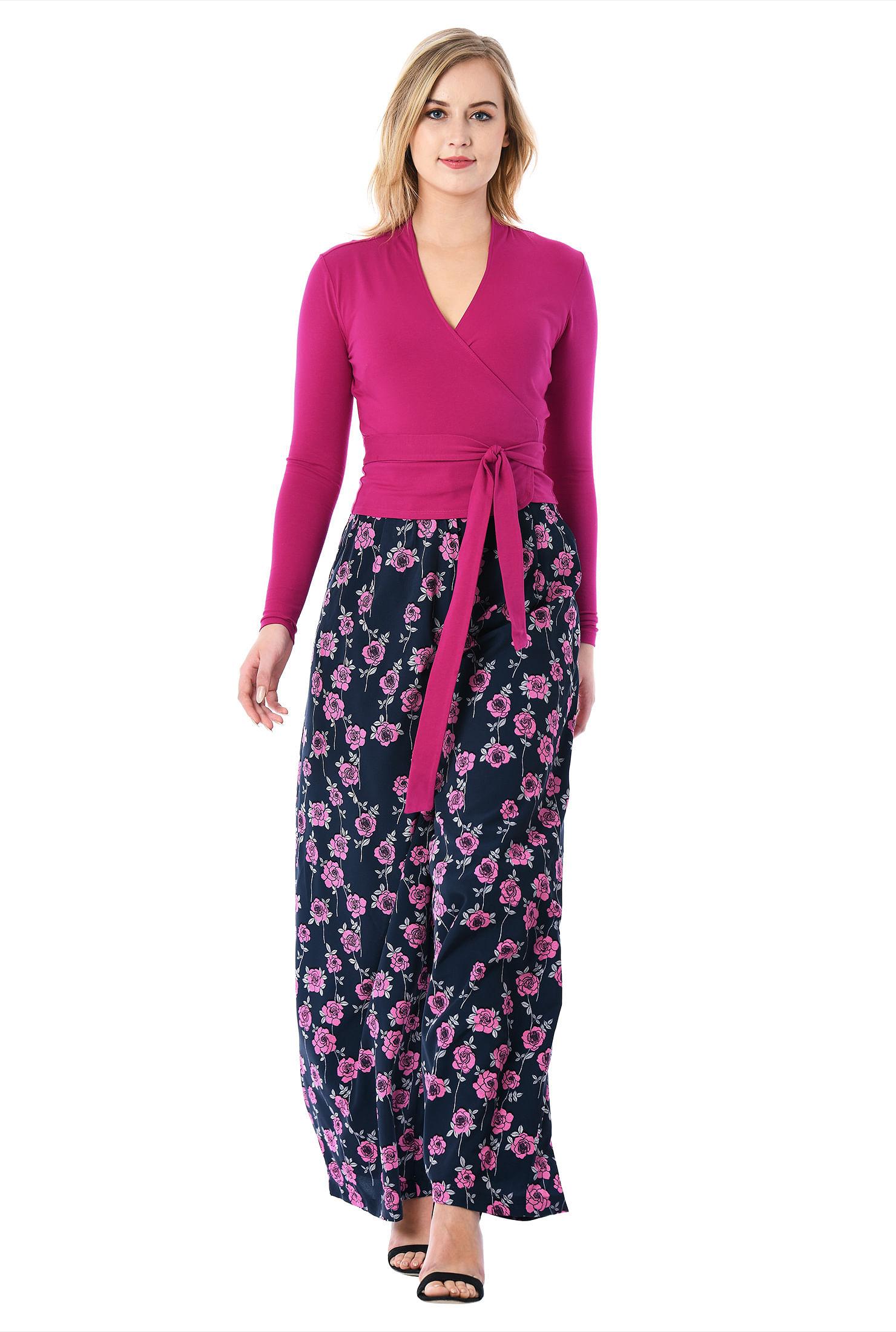 2d9d50504800 cotton/spandex jumpsuits, floral print jumpsuits, jumpsuits, long sleeve  jumpsuits,