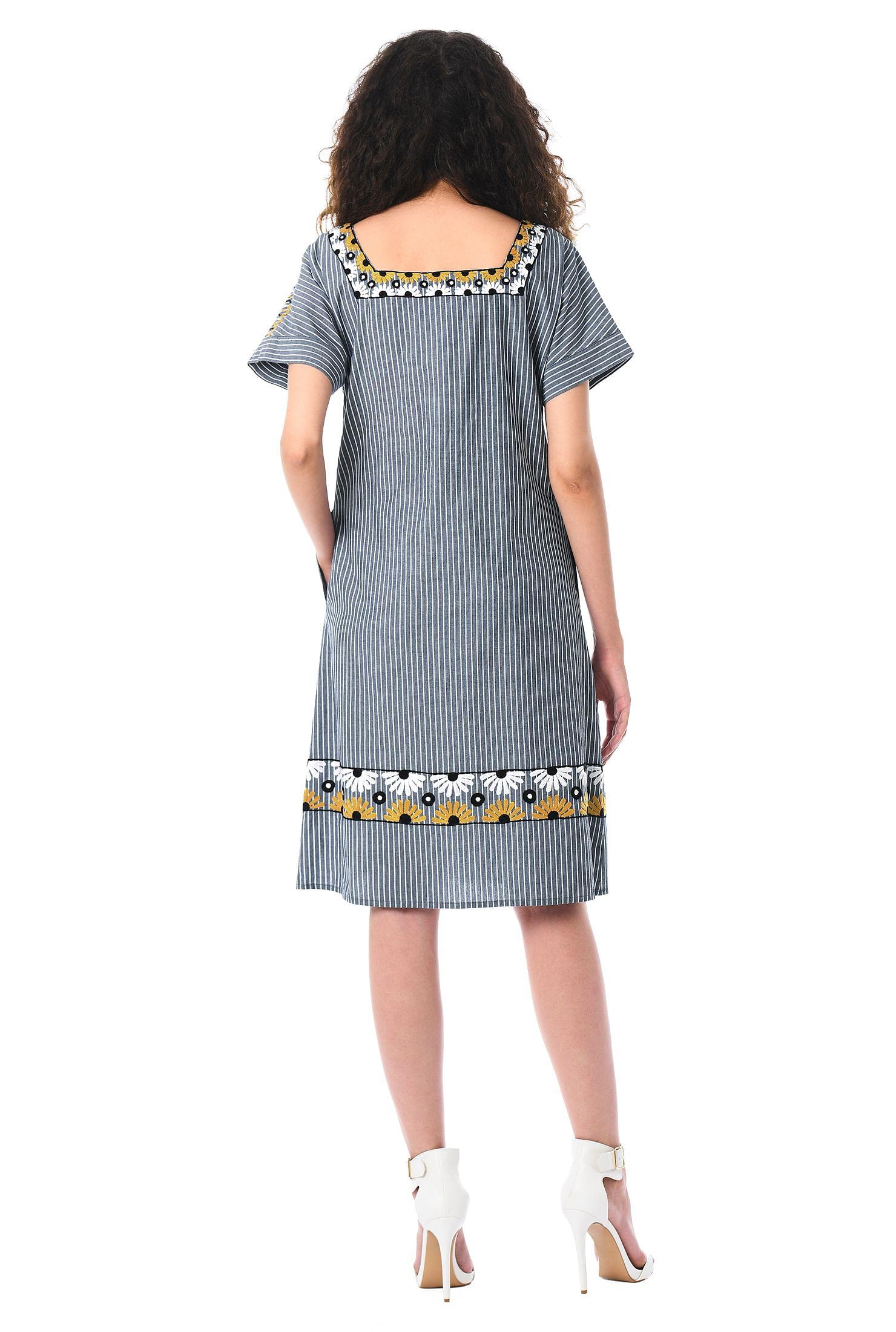 Womens Stripe Shift Dress Simply Be