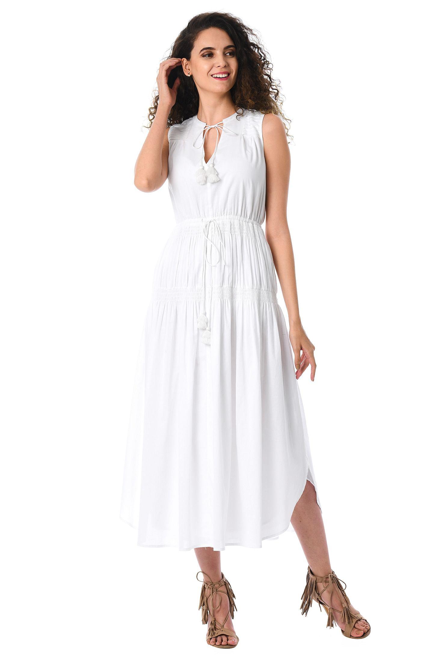 Tiered Cotton Voile Maxi Dress by Eshakti
