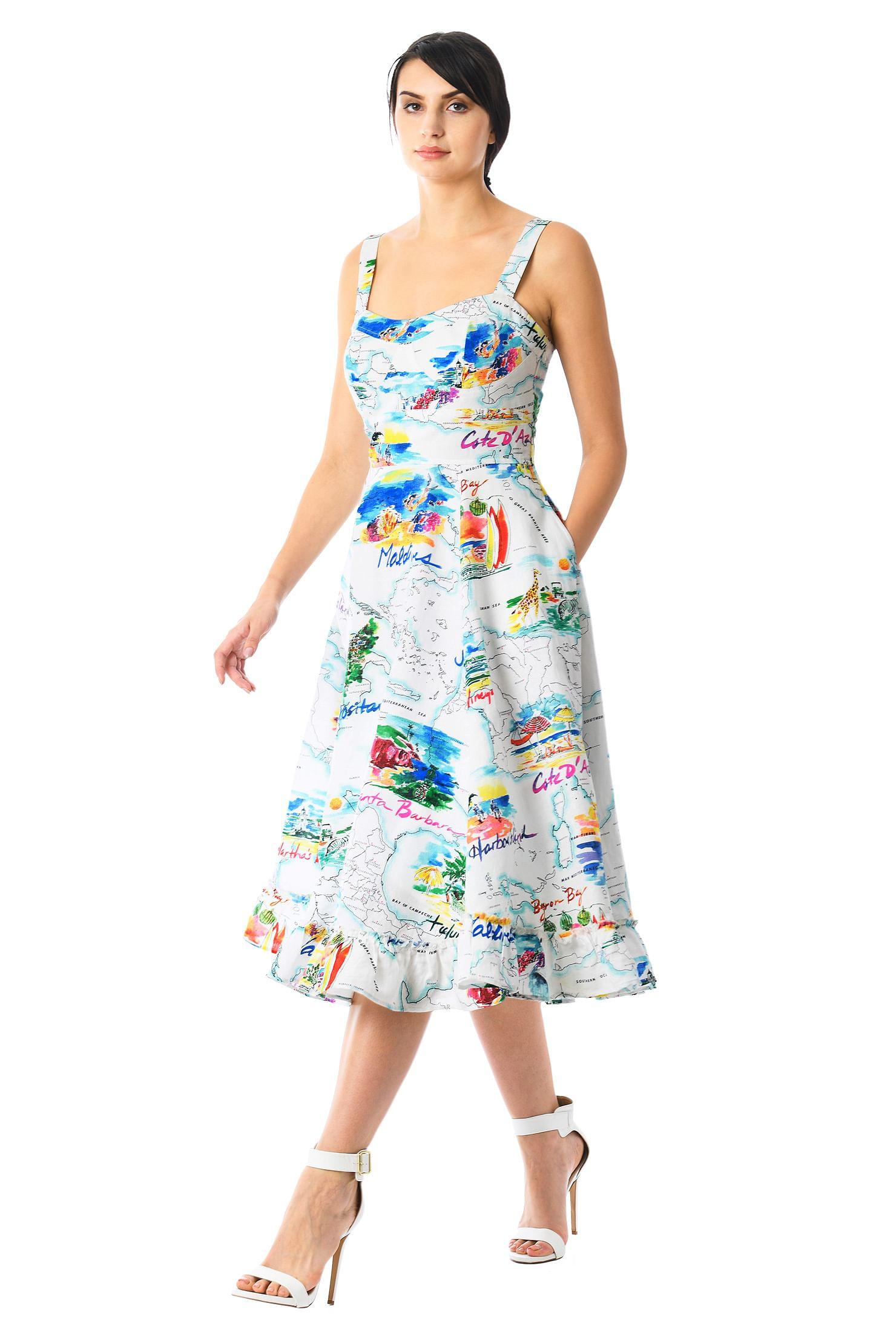 Womens Print Corset Dress Simply Be