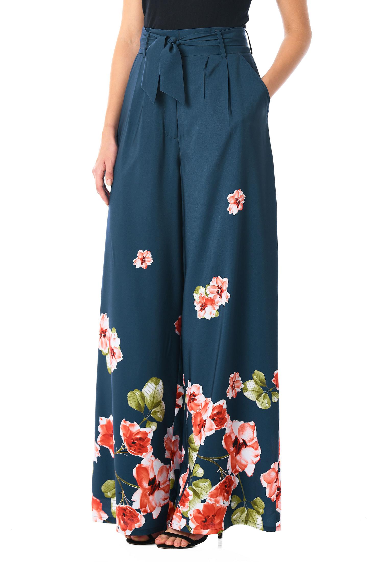 38c1f6e6fd598 ankle length pants, deep cadet blue multi pants, front pleat pants, high