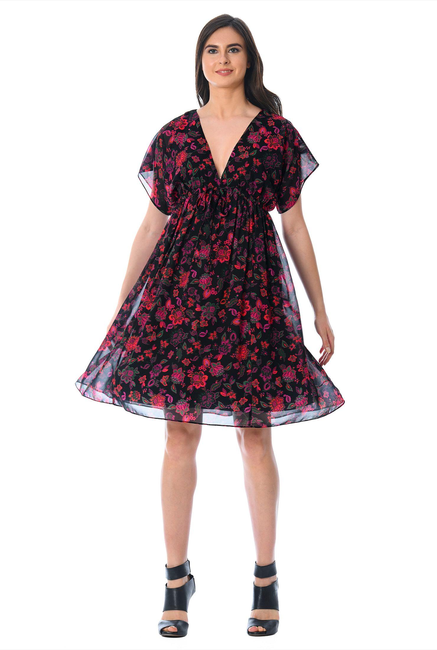 17915d617e8c4 Above knee length dresses, black dresses, blouson dresses, dolman sleeve  dresses,