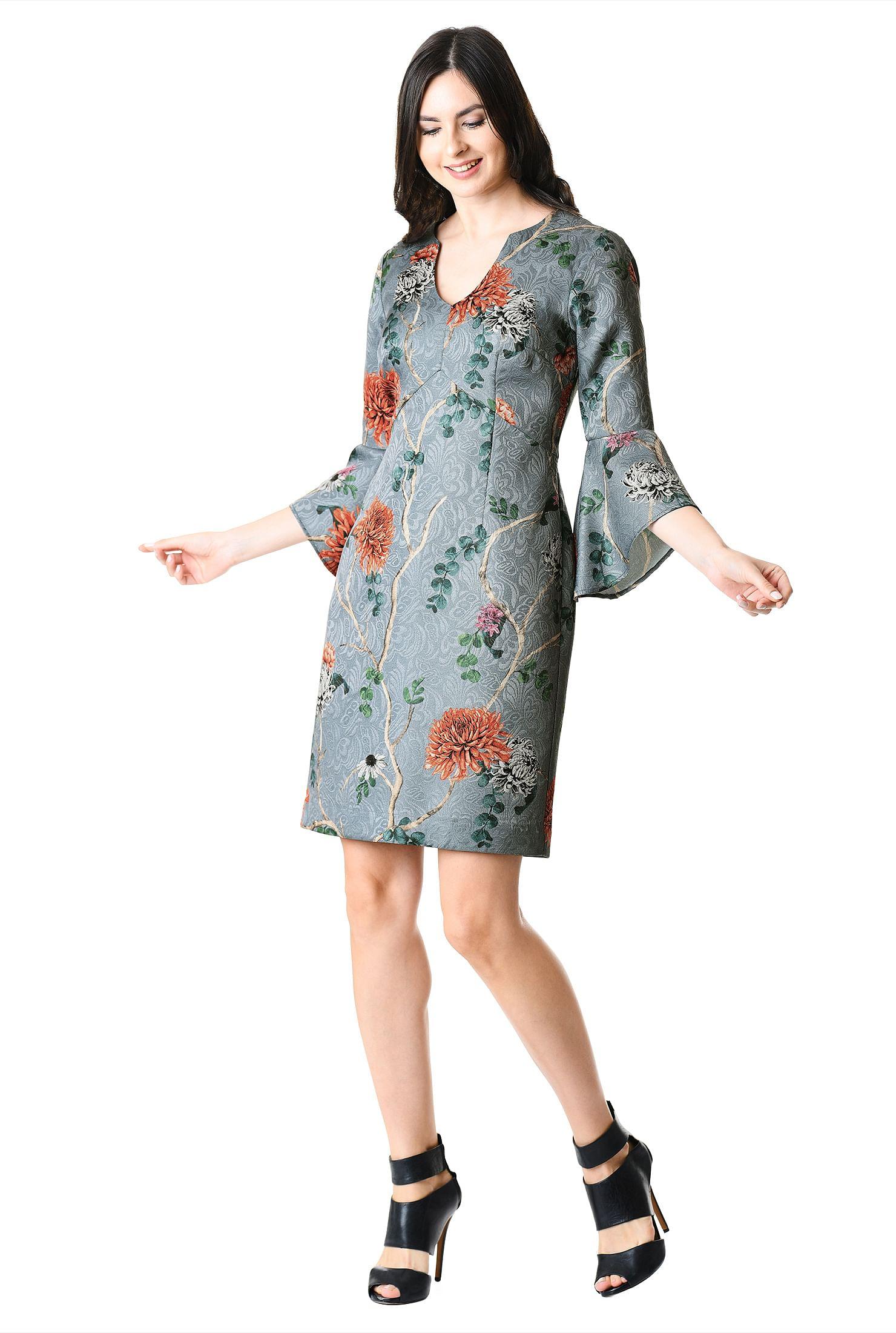 c7e668ee979d asymmetrical neck dresses, back zip dresses, Dry clean dresses, empire  waist dresses