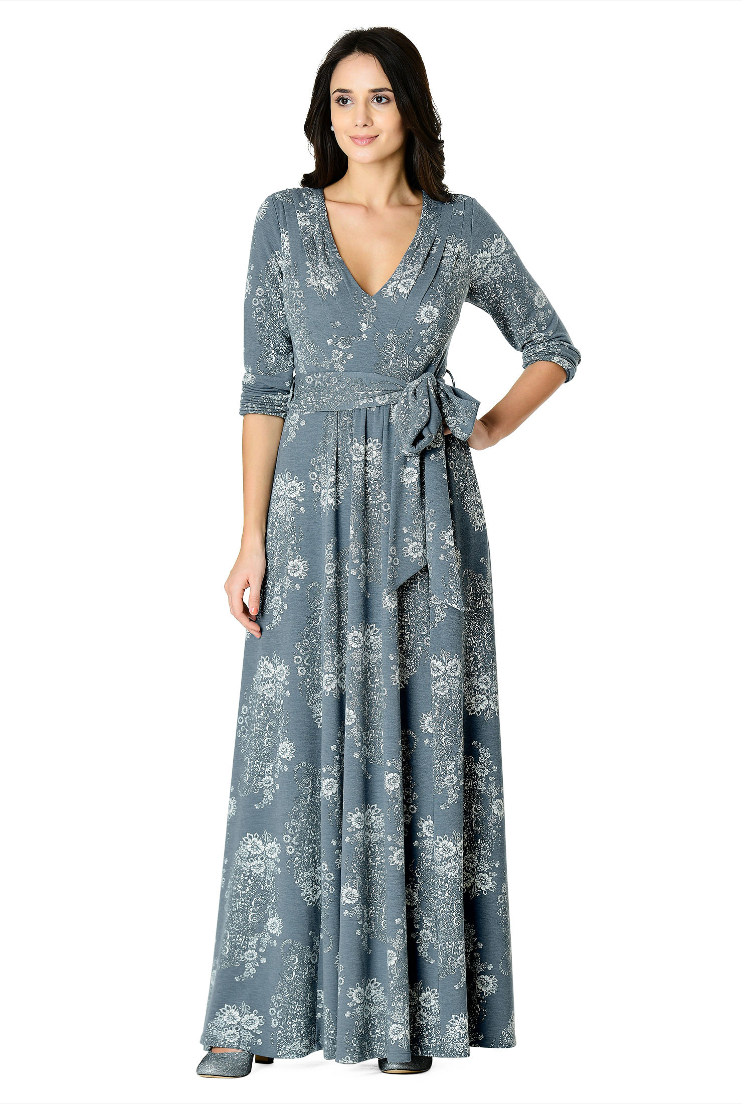 b2d6d39857 ... floral print cotton knit maxi dress. Out of Stock. , 2