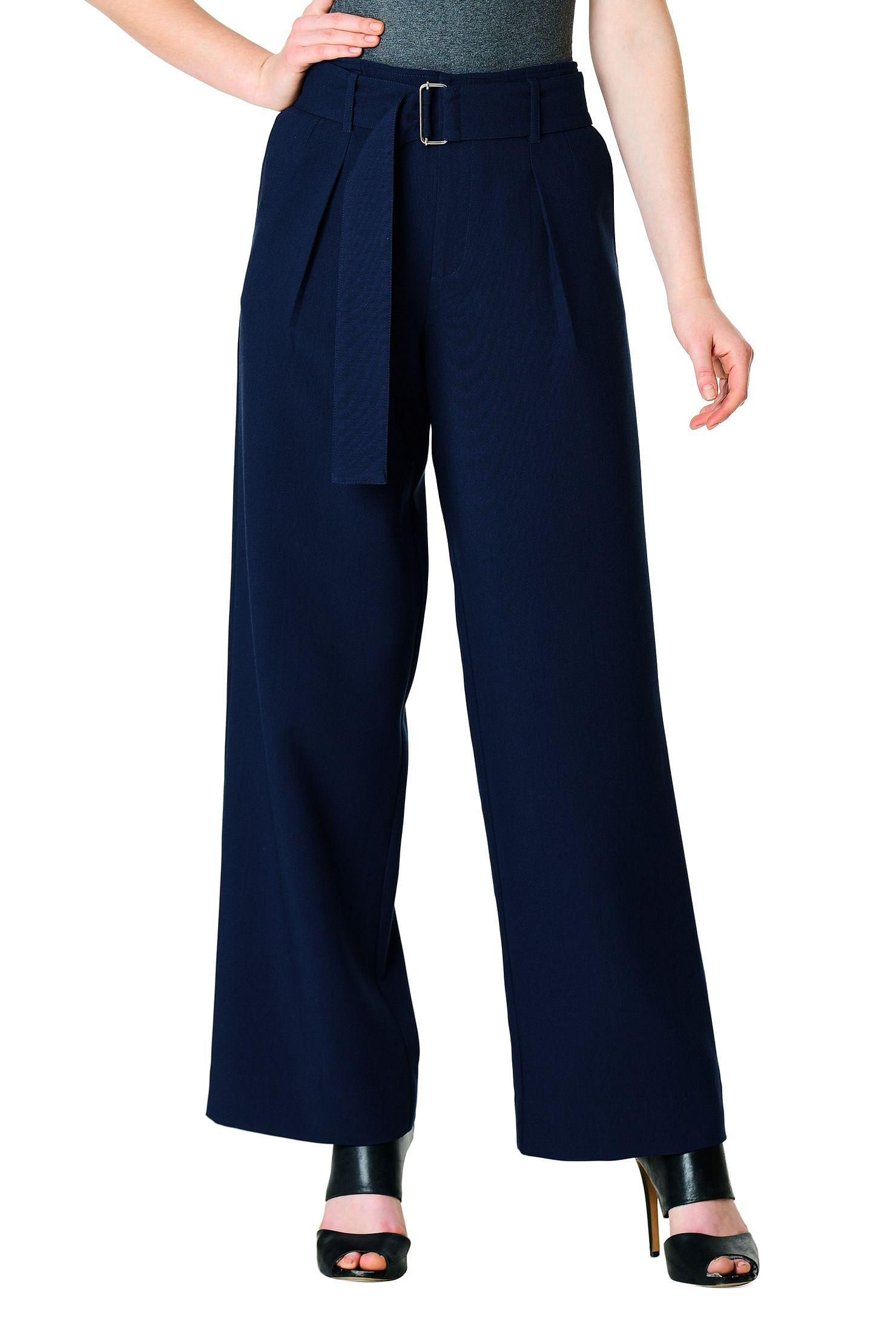 59c2486aeca25 front pleat pants, full-length pants, high waist pants, high-