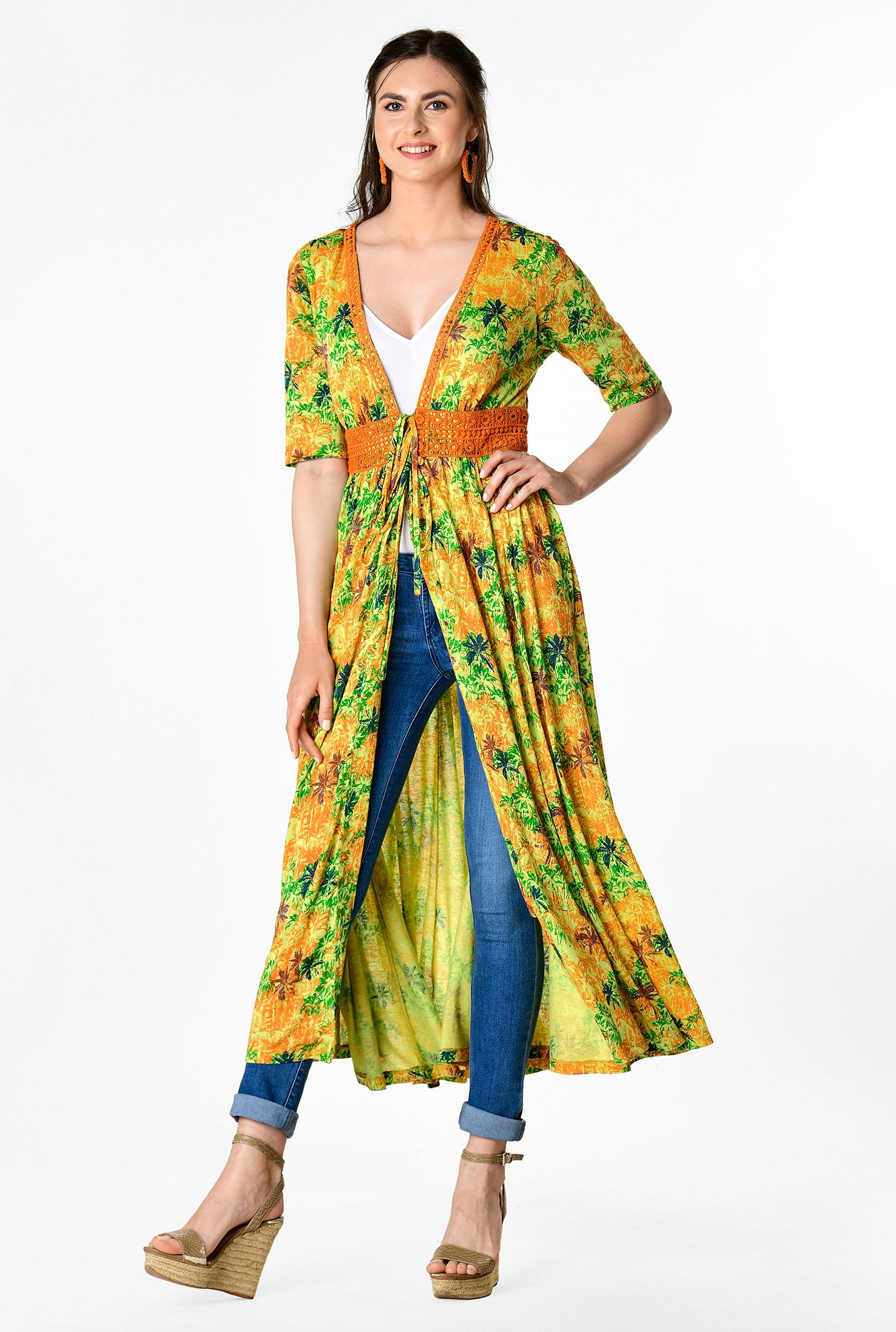 The Palm Print Cotton Knit Cover-Up Dress travel product recommended by Lindsay Wells on Lifney.