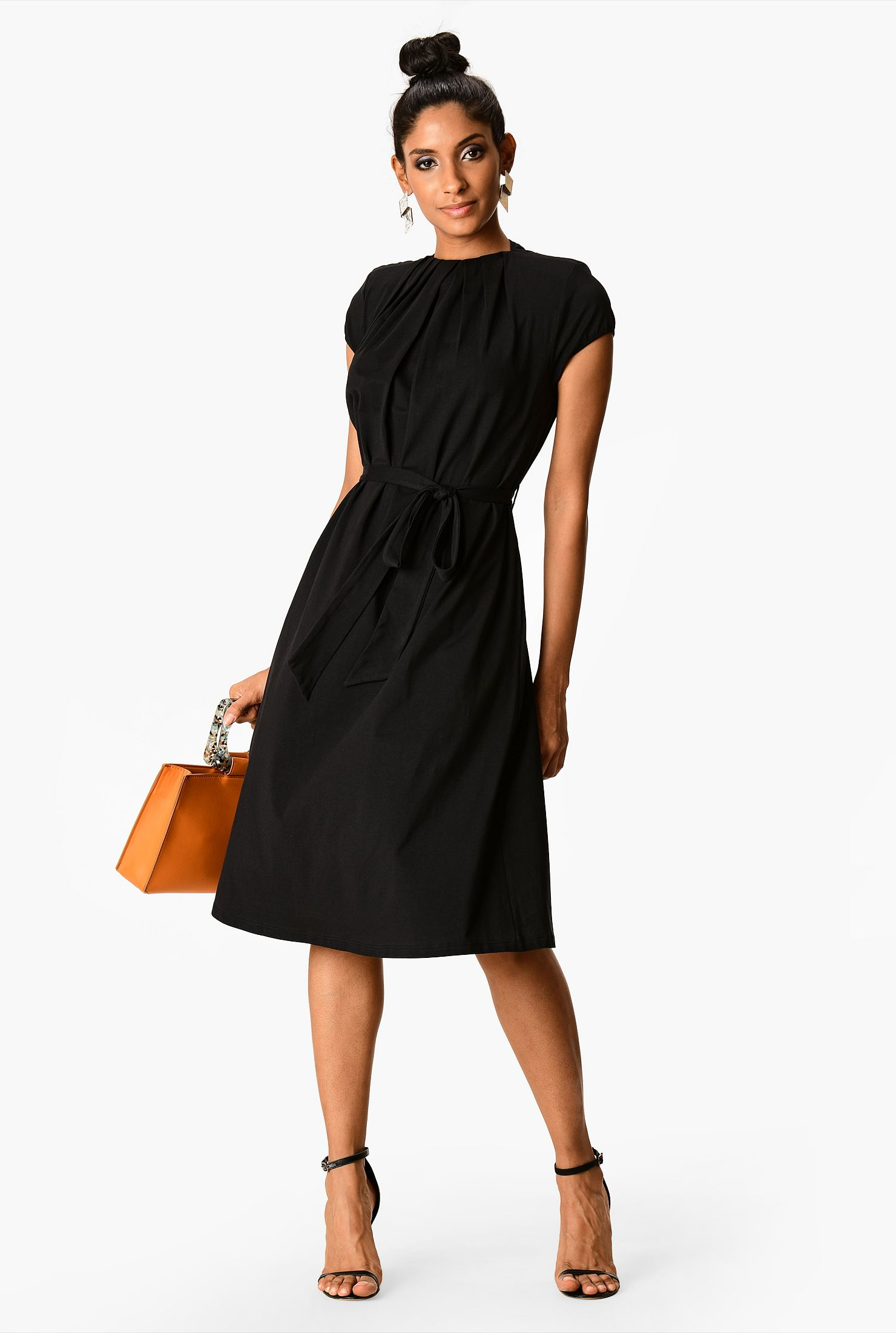 Simple black A line dress