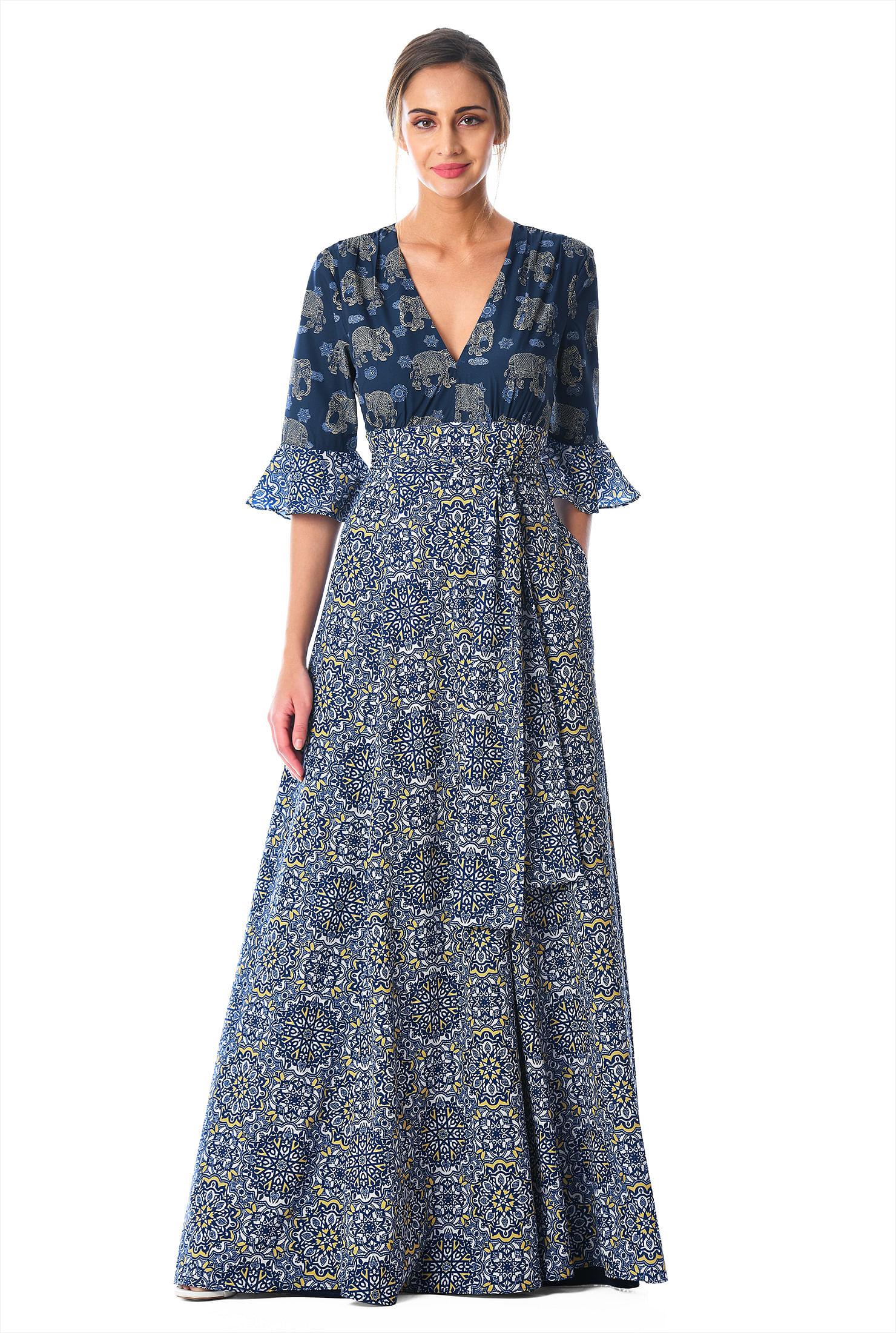 Sublimated elephant inspired dress