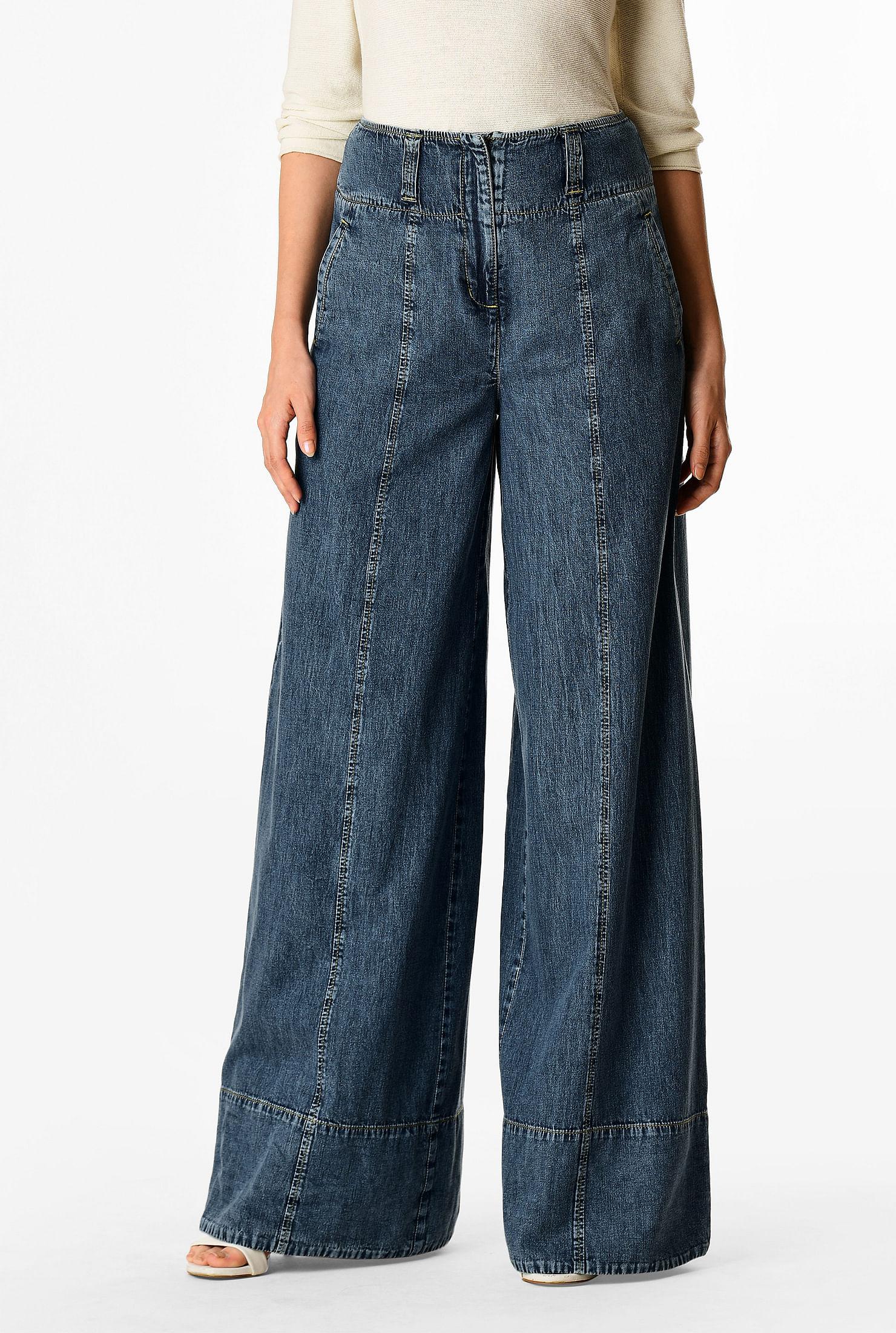 vintage teal blue coulottes palazzo pockets capri pants *568