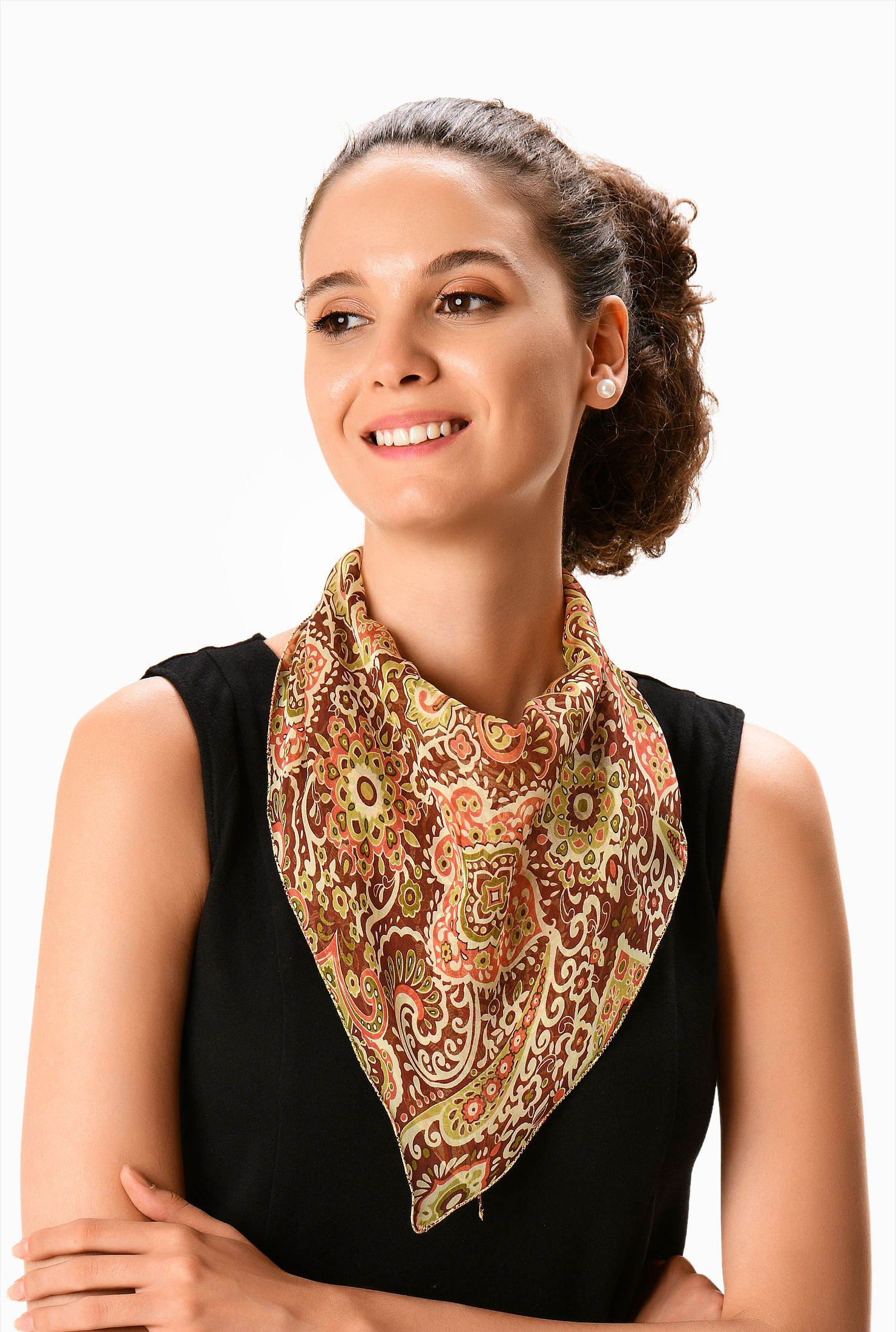 Gift For Her Designer Summer Wrap Washable Scarf Custom Square Scarf Poly Chiffon Scarf Head Scarf Chrysanthemum Print Hostess Gift